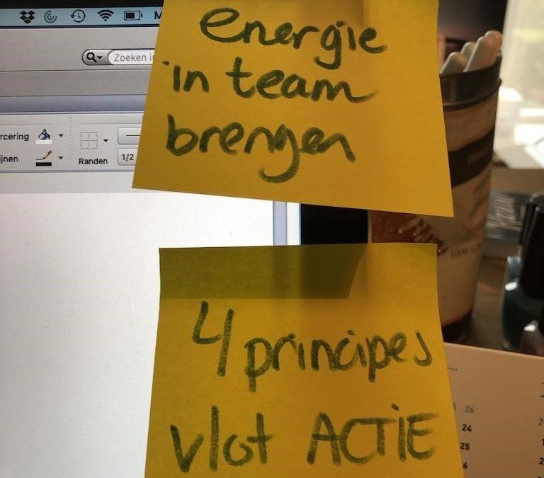 Energie terugbrengen in het team